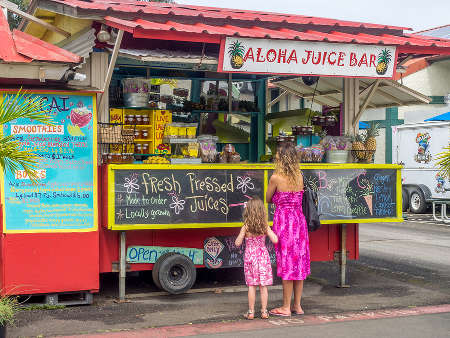 North Shore, Kauai, Hawaii juice bar